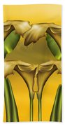 Dance Of The Yellow Calla Lilies Beach Towel