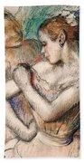 Dancer Beach Towel by Edgar Degas