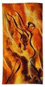Dancing Fire Viii Beach Towel