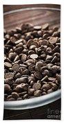Dark Chocolate Chips Beach Towel