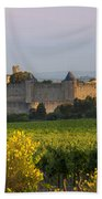 Dawn In Carcassonne Beach Towel