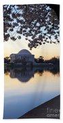 Dawn Over Jefferson Memorial Beach Towel