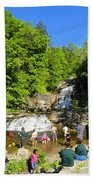 Day At Kent Falls State Park Beach Towel