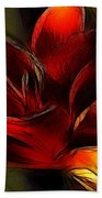 Day Lily Fractal Beach Towel