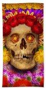 Day Of The Dead - Dia De Los Muertos Beach Towel