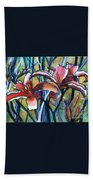 Daylily Stix Beach Towel by Kathy Braud