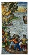 De Bry: Chicora, 1590 Beach Towel