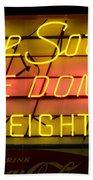 De Soto Fire Dome V Eight Neon Sign Beach Towel