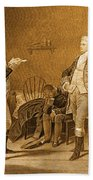 Death Warrant Of Major John Andre, 1780 Beach Towel by Photo Researchers