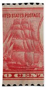 Decatur And Macdonagh Postage Stamp Beach Towel