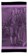 Declaration Of Independence In Pink Beach Towel