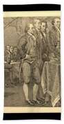 Declaration Of Independence In Sepia Beach Towel