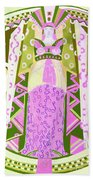 Deco Ladies Frostwork And Iris Beach Towel