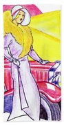 Deco Lady With Auto Beach Towel