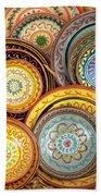 Decorative Plates Provence France Beach Towel