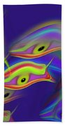 Deep Blue Ocean Life Beach Towel