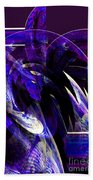 Deep Purple Abstract Beach Towel