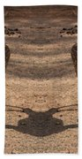 Deer Symmetry  Beach Towel