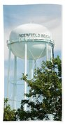 Deerfield Beach Tower Beach Towel