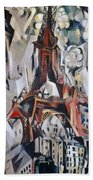 Delaunay: Eiffel Tower, 1910 Beach Towel