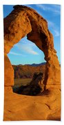 Delicate Arch Portrait Beach Towel