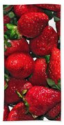 Deliciously Sweet Strawberries Beach Towel