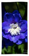 Delphinium Face Beach Towel