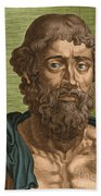 Demosthenes, Ancient Greek Orator Beach Towel by Photo Researchers