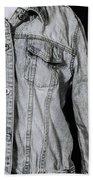 Denim Jacket Beach Towel by Joana Kruse