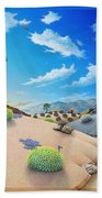 Desert Timeline Beach Towel