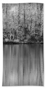 Desolate Splendor Bw Beach Towel