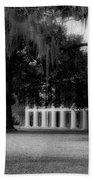 Destrehan Plantation In Black And White Beach Towel