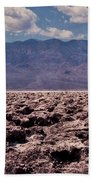 Devil's Golf Course At Death Valley Beach Towel