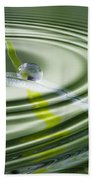Dew Bead On The Blade Of Grass Beach Towel