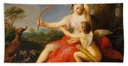 Diana And Cupid Beach Towel