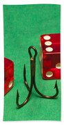 Dice Red Hook 1 A Beach Towel