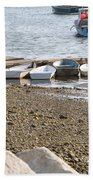 Dinghies At Green Harbor Beach Towel
