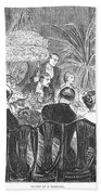 Dinner Party, 1885 Beach Towel