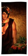 Dionysus Beach Towel by Lourry Legarde