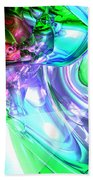 Disorderly Color Abstract Beach Towel