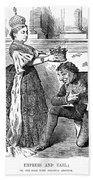 Disraeli Cartoon, 1876 Beach Towel