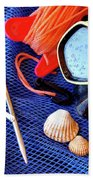 Dive Gear Beach Towel by Carlos Caetano