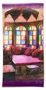Do-00520 Emir Bachir Palace Interior-violet Bkgd Beach Towel