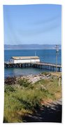 Dock At Point Reyes Calfornia . 7d16069 Beach Towel