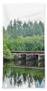 Dock On The North Fork River Beach Towel