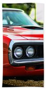 Dodge Super Bee Classic Red Beach Towel by Paul Ward