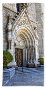 Doorway Sacred Heart Cathedral Beach Towel