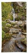 Dorothy Falls Near Lake Kaniere New Beach Towel