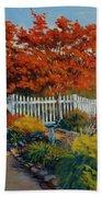Dotti's Garden Autumn Beach Towel