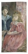 Double Portrait Of Charley And Jeannie Thomas Beach Towel